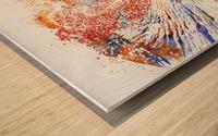 The Wave Wood print