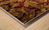 Golden wood carvings Wood print