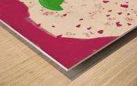 Hua flower Wood print