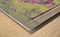 Tea Roses Bouquet on the Windowsill Wood print