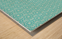 Islamic Blue Art  Wood print