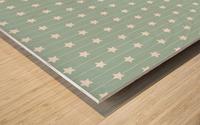 Star Seamless Pattern Art Wood print