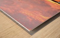 Sunset Sailboat 2 Wood print