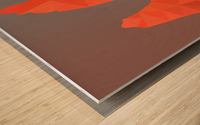 Torres del Paine National Park Low Poly Art  Wood print