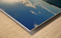 Sea Sun Wood print