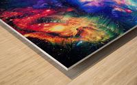 Colorful Galaxy  Wood print