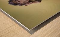 Hands-up Wood print