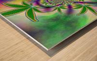 Marijuana Leaf Wood print