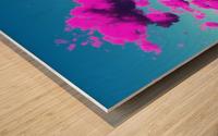Vivid Purple Cloudscape Wood print