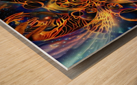 Colorful space Wood print