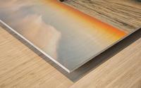 Lace sunset Wood print