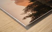 Glowing Mist Wood print