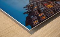Blue Amsterdam Wood print