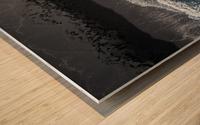 black beach Wood print