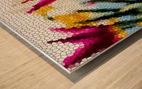 Tulip Mosaic Wood print