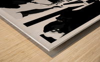 Busker II Wood print