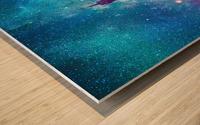 Eiffel Tower - Milky Way Collage Wood print