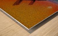SUNDOWN ON WINDMILLS Wood print
