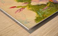 Irises Wood print