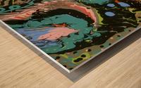 Fantasy Noir Blue Wood print