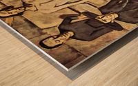 Resurrection of Christ by Albin Egger-Lienz Wood print