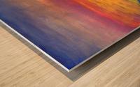 Mystical red sunset Wood print
