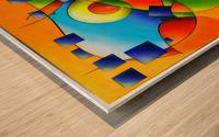 Fantisimella - colourful birdy abstract Wood print
