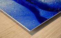 Blue Lips Wood print