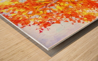 Heavenly birches Wood print