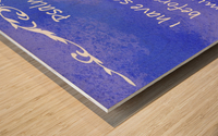 Psalm 16 8 3BL Wood print