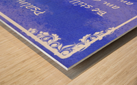 Psalm 46 10 9BL Wood print