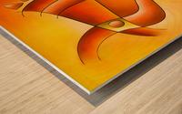 Sankhiassa - dragonfly with orange sky Wood print