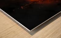 Lava explosion Wood print