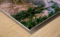Semi frozen falls Wood print
