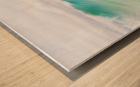 CANARY WAVES 2. Wood print