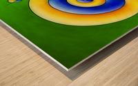 Neosmirana - running space snail Wood print