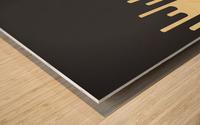 Vanilla Melting Tone Wood print