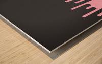 Donut Melting Tone Wood print