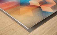 Abstract Design I   Panoramic Wood print