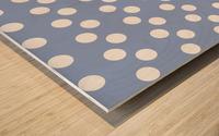 Serenity Polka Dots Wood print