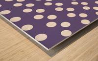 Ultra Violet Polka Dots Wood print