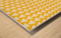 Yellow  White triangle Wood print