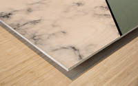 ABSTRACT GRAYISH BLUE MODERN MARBLE Wood print