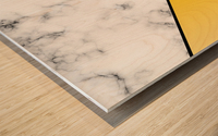 ABSTRACT YELLOW PASTEL MODERN MARBLE Wood print