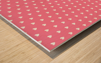 Pink Sherbet Heart Shape Pattern Wood print
