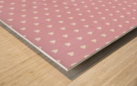 Sweet Lilac Heart Shape Pattern Wood print