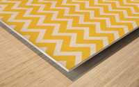 EGG YELLOW CHEVRON Wood print