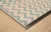 AQUAMARINE CHEVRON Wood print