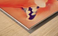 Desires in Peach Wood print