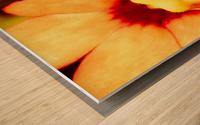 Yellow Mello Impression sur bois